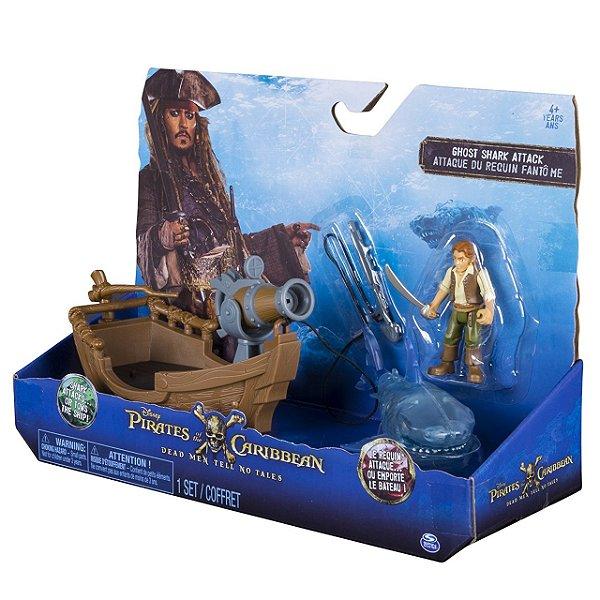 Piratas do Caribe Figuras Deluxe com Acessórios - Ataque do Tubarão Fantasma