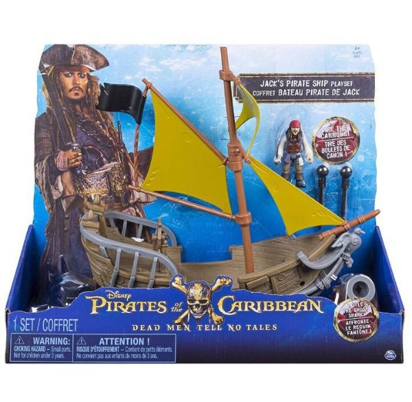 Piratas do Caribe Playset Navio Jack Sparrow