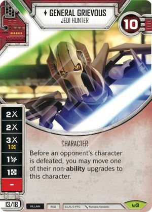 SW Destiny - General Grievous Jedi Hunter
