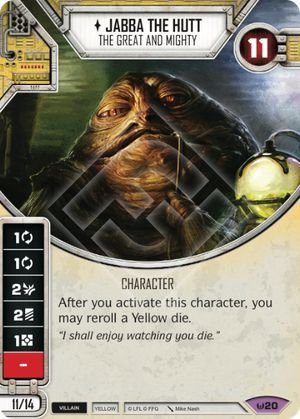 SW Destiny - Jabba the Hutt The Great and Mighty