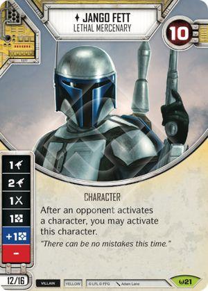SW Destiny - Jango Fett Lethal Mercenary