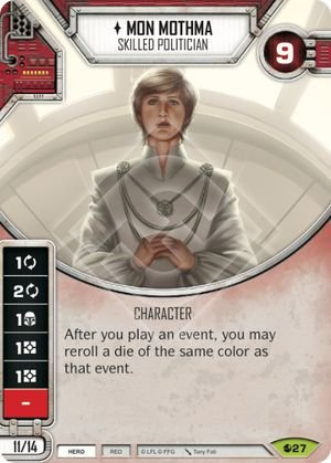 SW Destiny - Mon Mothma Skilled Politician