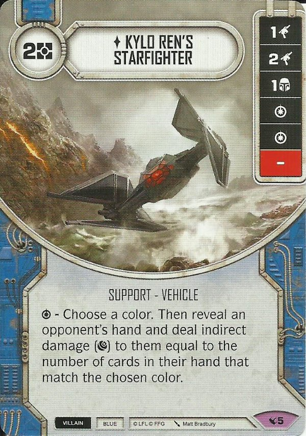 SW Destiny - Kylo Ren's Starfighter