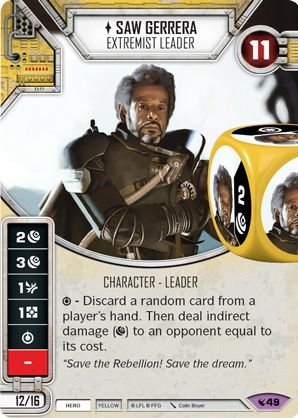 SW Destiny - Saw Gerrera Extremist Leader