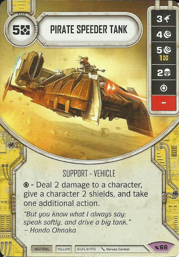 SW Destiny - Pirate Speeder Tank