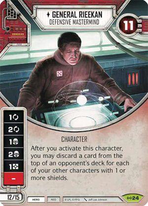 SW Destiny - General Rieekan Defensive Mastermind