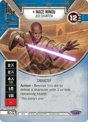 SW Destiny - Mace Windu Jedi Champion