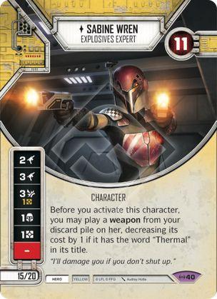 SW Destiny - Sabine Wren - Explosives Expert