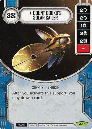 SW Destiny - Count Dooku's Solar Sailer