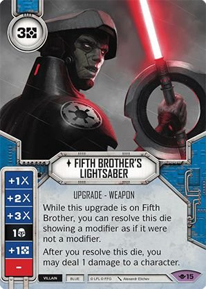 SW Destiny - Fifth Brother's Lightsaber