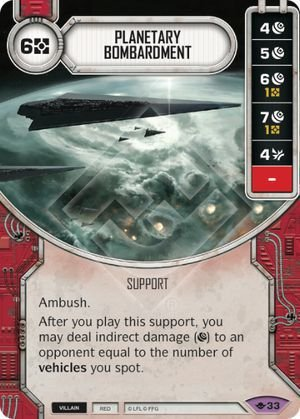 SW Destiny - Planetary Bombardment