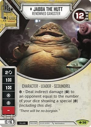 SW Destiny - Jabba the Hutt Renowned Gangster