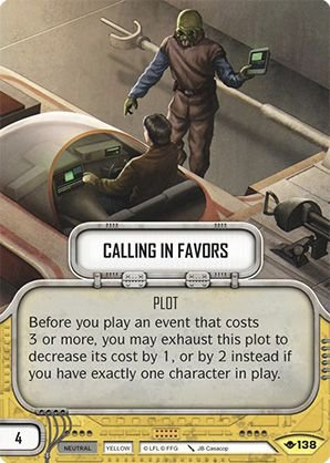SW Destiny - Calling in Favors