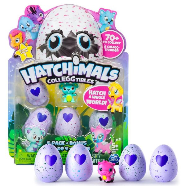 Hatchimals Colleggtibles Season 1 Blister Com 4 Ovos + Brinde