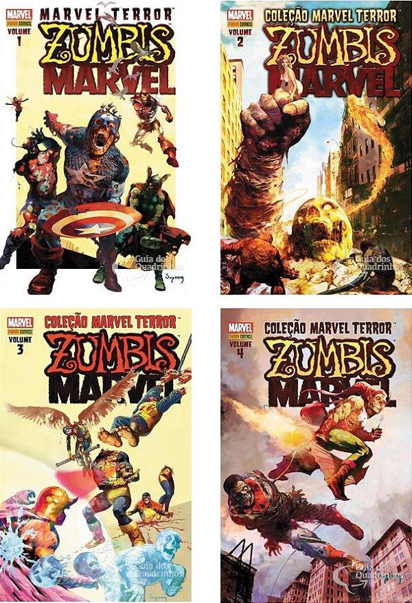Panini - Coleção Marvel Terror - Zumbis Marvel 1ao4