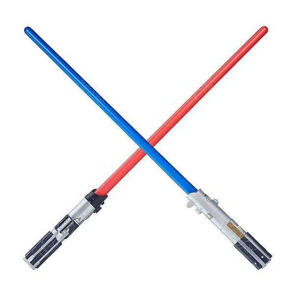 Star Wars Sabre De Luz Básico Darth Vader E Luke Skywalker