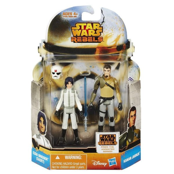 Boneco Star Wars Rebels Saga Legends - Ezra Bridger (Cadet) & Kanan Jarrus