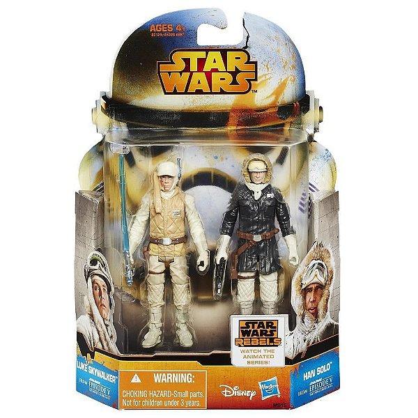 Boneco Star Wars Rebels Saga Legends - Luke Skywalker & Han Solo