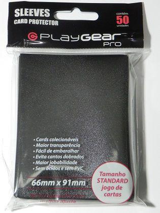 Card Protector PlayGear Pro C/50 Unidades Preto