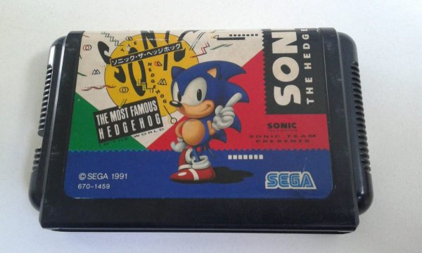 Game para Mega Drive - Sonic The Hedgehog