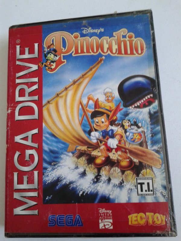 Game Mega Drive - Disneys Pinocchio