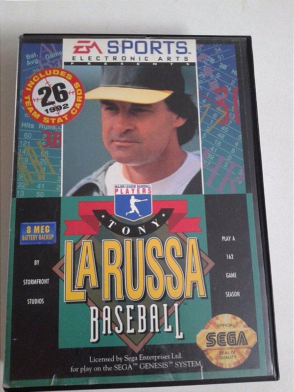 Game para Mega Drive - Tony Larussa Baseball