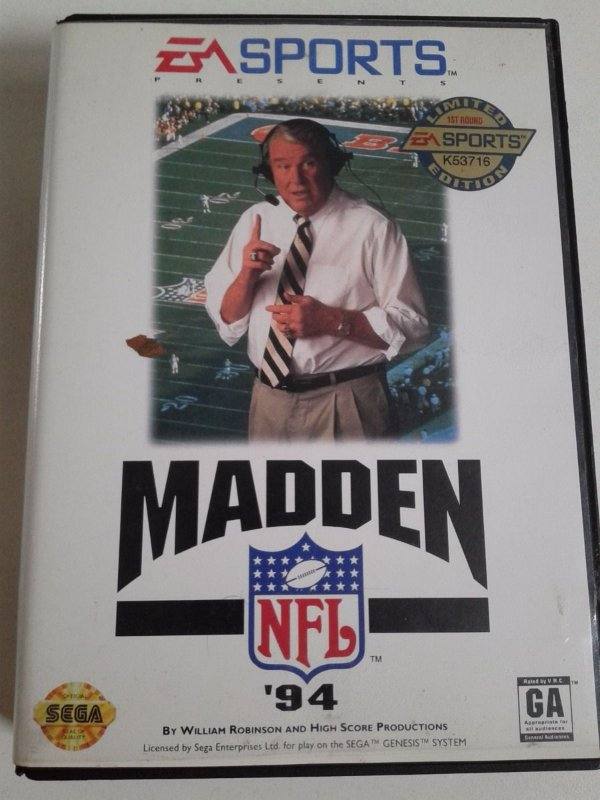 Game para Mega Drive - Madden NFL '94