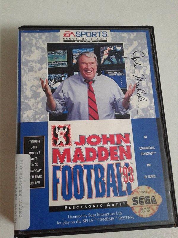 Game para Mega Drive - John Madden Football '93