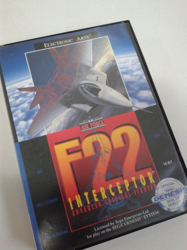 Game para Mega Drive - F-22 Interceptor