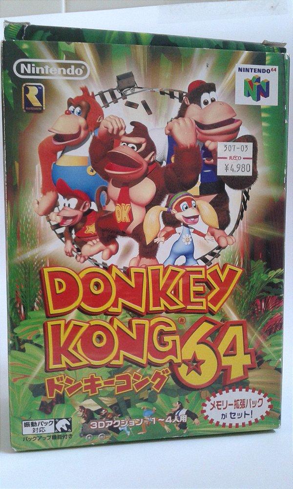 Game Para Nintendo 64 - Donkey Kong 64 Completo c/ Expansion Pak NTSC-J