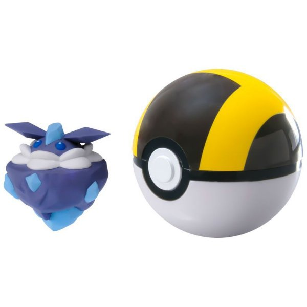 Pokémon Mini Figura com Pokébola - Carbink e Ultra Ball