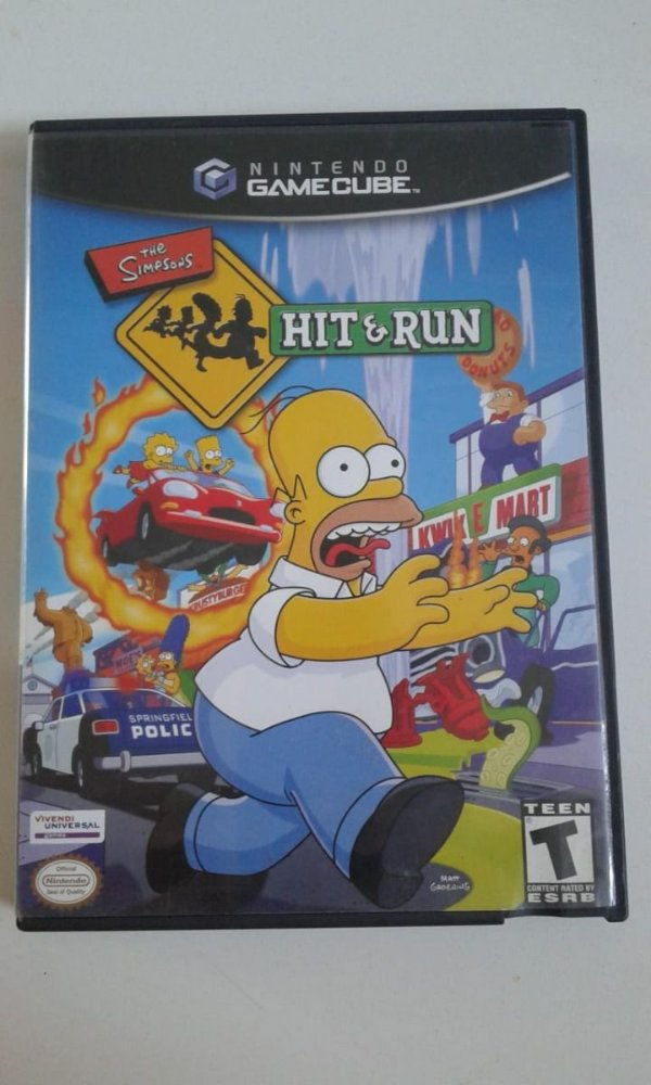 Game para GameCube - The Simpsons Hit & Run NTSC/US