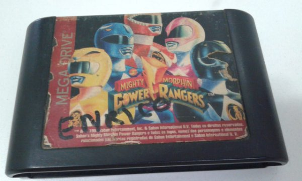 Game para Mega Drive - Mighty Morphin Power Rangers