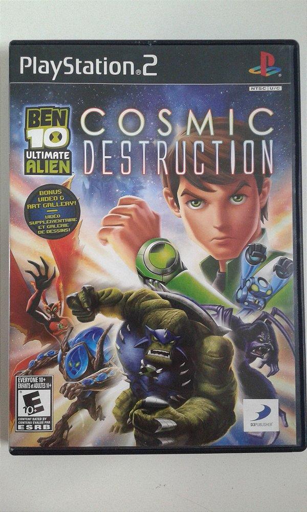 Game Para PS2 - Ben 10 Ultimate Alien Cosmic Destruction NTSC/US