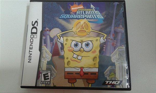Game para Nintendo DS - Bob Esponja Atlantis Squarepantis