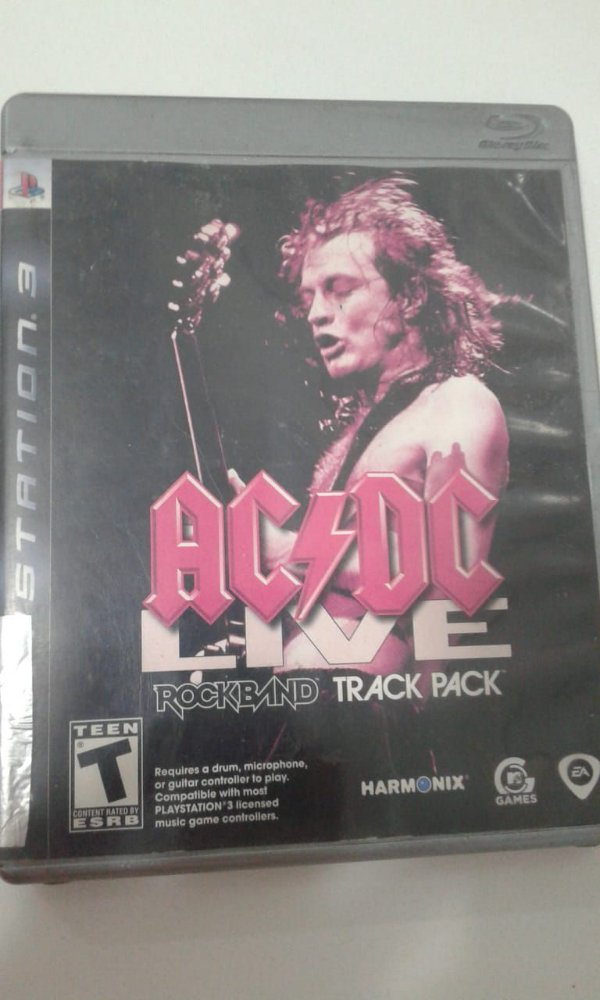 Game para PS3 - AC/DC Live Rock Band