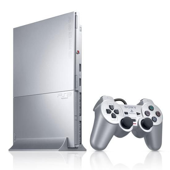 Console Sony Playstation 2 Slim Prata