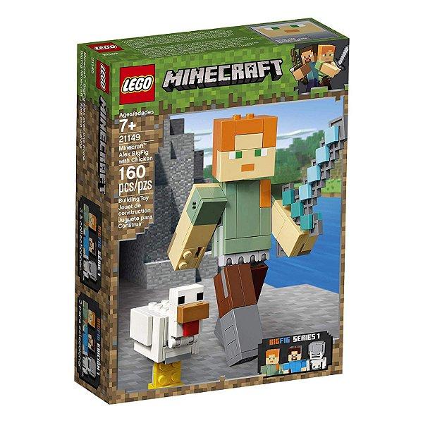 Lego Minecraft - Minecraft BigFig Alex com Galinha 21149