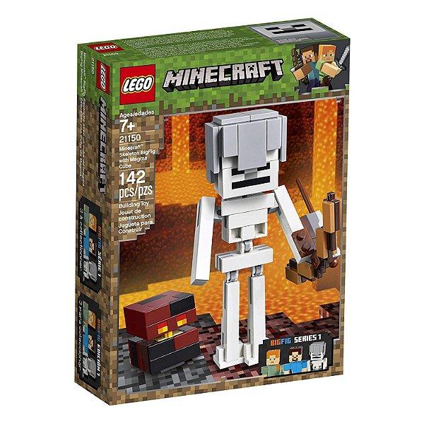 Lego Minecraft - Minecraft BigFig Esqueleto com Cubo de Magma 21150