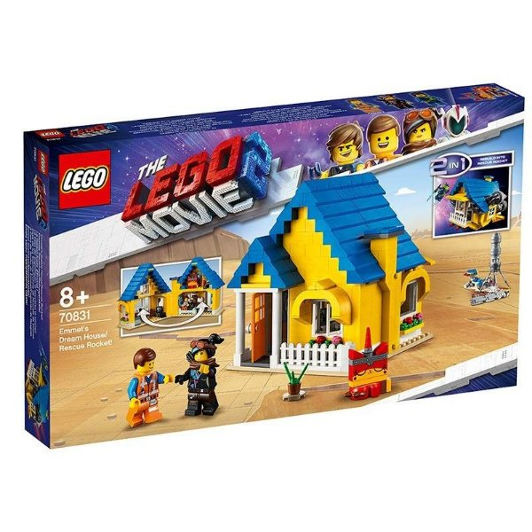 Lego Movie 2 - A Casa Dos Sonhos De Emmet/foguete De Resgate 70831