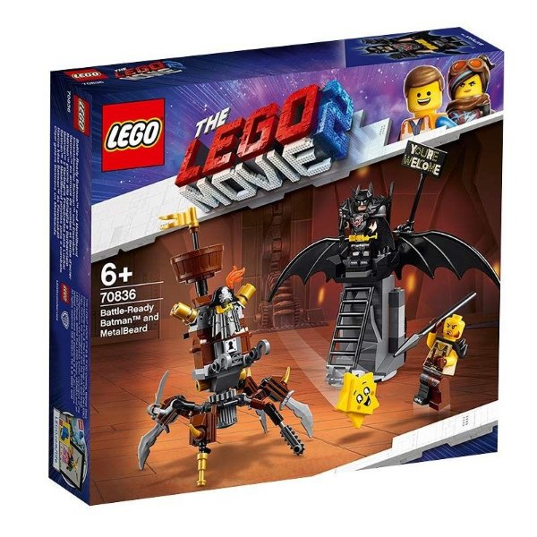 Lego Movie 2 - Batman E Barba De Ferro Prontos Para Combate 70836