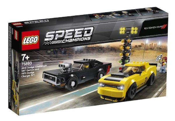 Lego Speed Champions - 2018 Dodge Challenger Srt Demon e 1970 Dodge Charger R/T 75893