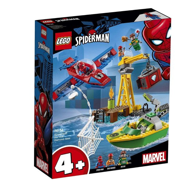 Lego Spider-man O Assalto Aos Diamantes De Dock Ock 76134