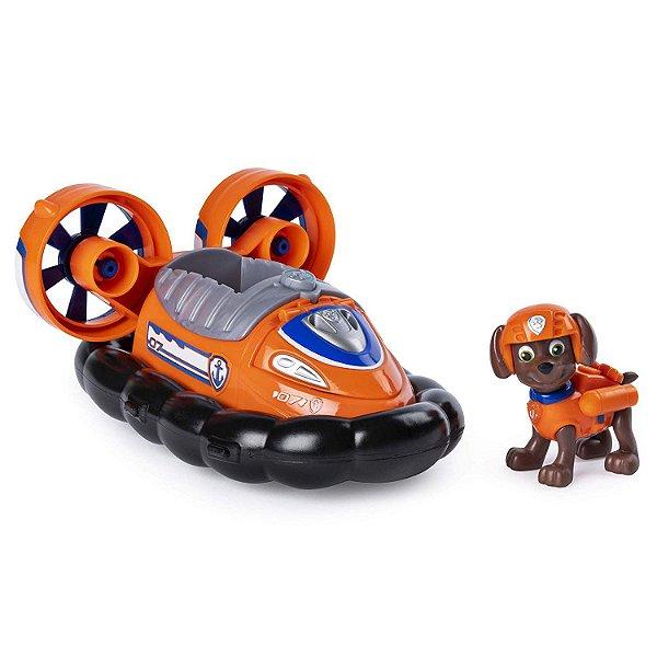 Patrulha Canina - Boneco com Veículo Zuma Transforming Hovercraft