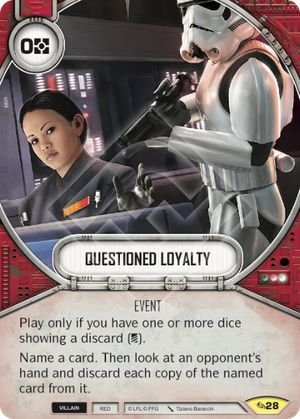SW Destiny - Questioned Loyalty