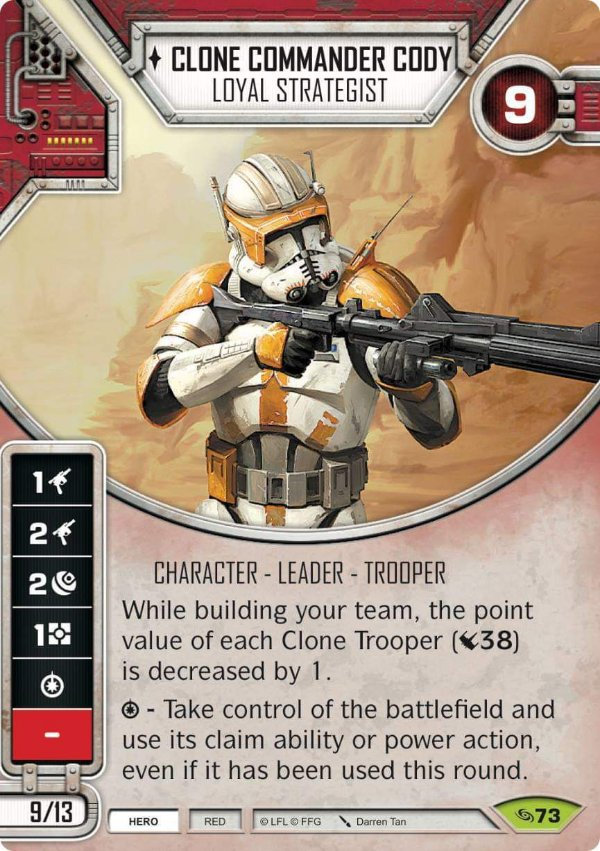SW Destiny - Clone Commander Cody Loyal Strategist