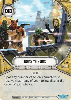 SW Destiny - Quick Thinking