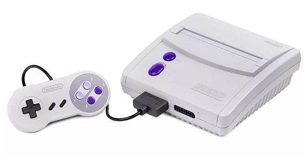 Console Super Nintendo Baby Completo + Jogo Brinde