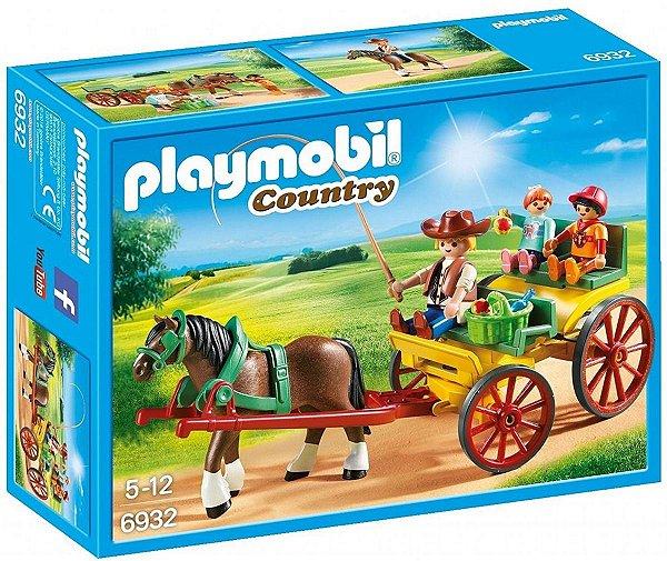 Playmobil 6932 - Charrete Com Cavalos