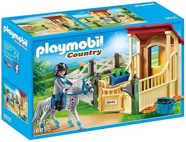 Playmobil 6935 - Cavalos Apaloosa Com Estábulo